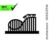 roller coaster icon | Shutterstock .eps vector #403323946
