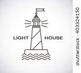 vector lighthouse logo  modern... | Shutterstock .eps vector #403324150