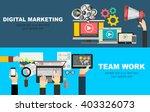 set of flat design illustration ... | Shutterstock .eps vector #403326073