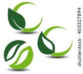 vector nature circular symbols... | Shutterstock .eps vector #403327894