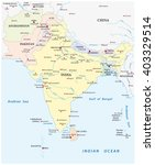 detailed vector map of south... | Shutterstock .eps vector #403329514