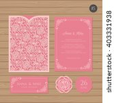 wedding invitation or greeting... | Shutterstock .eps vector #403331938