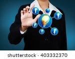 businessman show innovation... | Shutterstock . vector #403332370