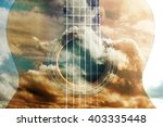 acoustic guitar composition...   Shutterstock . vector #403335448