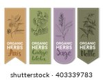 organic herbs set of label. | Shutterstock .eps vector #403339783