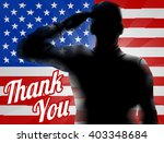 a silhouette soldier saluting... | Shutterstock .eps vector #403348684