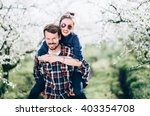 loving couple  loving couple... | Shutterstock . vector #403354708