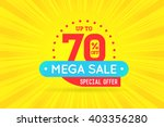 sale sign banner poster ready... | Shutterstock .eps vector #403356280