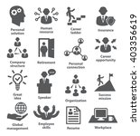 business people management icons | Shutterstock .eps vector #403356619