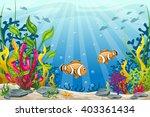 Illustration Of Underwater...