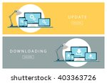 set of flat design concepts... | Shutterstock .eps vector #403363726