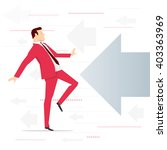 red suit businessman and... | Shutterstock .eps vector #403363969