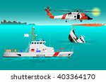 helicopter rescue teams and...   Shutterstock .eps vector #403364170