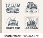 classic cars logo illustrations ... | Shutterstock .eps vector #403365379