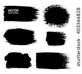 vector brush stroke  acrylic or ... | Shutterstock .eps vector #403366828