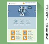 robot web site theme layout....