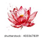 Pink Lotus Watercolor...