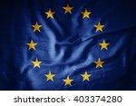 Europe Union Flag On Grunge...