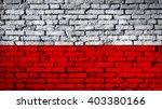 Poland Flag On A Brick Wall
