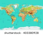 map of the world. vector... | Shutterstock .eps vector #403380928