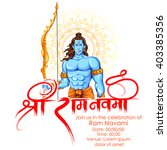 illustration of lord rama with... | Shutterstock .eps vector #403385356