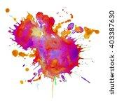 expressive watercolor spot... | Shutterstock .eps vector #403387630
