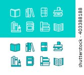 book icons for your design. set ... | Shutterstock .eps vector #403388188