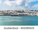 ancient arabic city panorama... | Shutterstock . vector #403389643