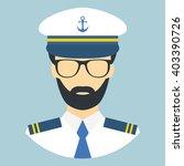 captain. character. portrait.... | Shutterstock .eps vector #403390726