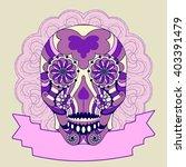vector illustration. postcard... | Shutterstock .eps vector #403391479