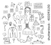 set wedding symbols and signs | Shutterstock . vector #403393150