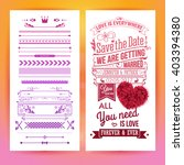 colorful romantic wedding... | Shutterstock .eps vector #403394380