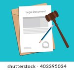legal document paper... | Shutterstock .eps vector #403395034