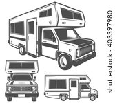 rv cars recreational vehicles... | Shutterstock .eps vector #403397980