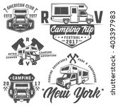 rv cars recreational vehicles... | Shutterstock .eps vector #403397983