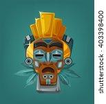 ethnic tribal mask. vector... | Shutterstock .eps vector #403398400