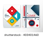 abstract composition. lozenge... | Shutterstock .eps vector #403401460