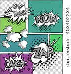 a set of comic bubbles and... | Shutterstock .eps vector #403402234