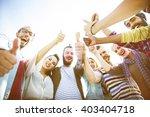 friends friendship like thumbs... | Shutterstock . vector #403404718