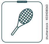 vector silhouette of a tennis... | Shutterstock .eps vector #403408060