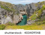 a view of the blowhole in... | Shutterstock . vector #403409548
