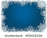 blue christmas background with... | Shutterstock .eps vector #403410136