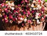 Full Bouquet Of Flowers In A...