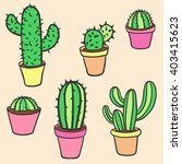 vector collection of cactus.... | Shutterstock .eps vector #403415623