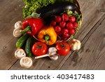 vegetables . fresh bio... | Shutterstock . vector #403417483