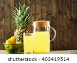 Pineapple Slices And Juice In...
