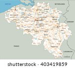 high detailed belgium road map... | Shutterstock .eps vector #403419859