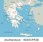 high detailed greece road map... | Shutterstock .eps vector #403419928