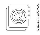 address book icon illustration... | Shutterstock .eps vector #403428436