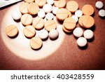 a lot of colorful medication... | Shutterstock . vector #403428559